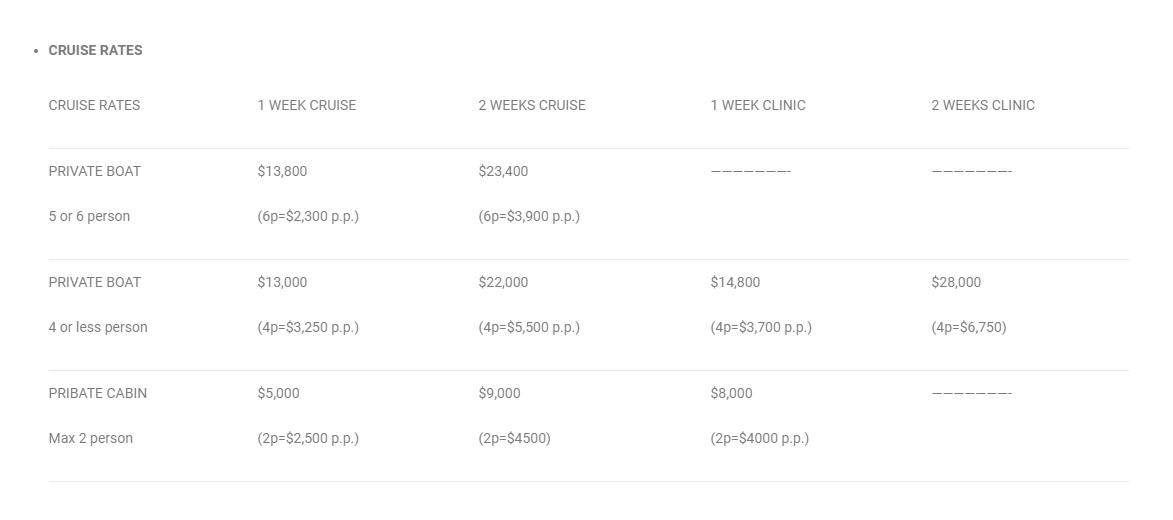 cruise prices